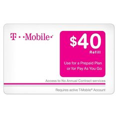 T-Mobile Prepaid Cards ranging from $40-$80 (Email Delivery): 5% Off at target.com #LavaHot http://www.lavahotdeals.com/us/cheap/mobile-prepaid-cards-ranging-40-80-email-delivery/116670