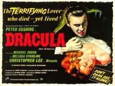 Often appearing with Peter Cushing, Christopher Lee breathed new life into the tired black and white monster-film franchises of the '30s and '40s, ramping them up for the '50s and '60s with liberal doses of Eastmancolour blood, close-quarters violence, and panting sex appeal.