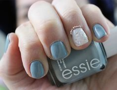 Mani Monday :: A Parka Perfect Snow Storm ft: Essie & China Glaze