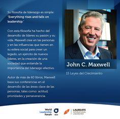 John C. Maxwell es un autor, orador y pastor que ha escrito más de 60 libros, centrándose principalmente en el liderazgo. Los títulos incluyen Las 21 leyes irrefutables del liderazgo y Las 21 cualidades indispensables de un líder: convertirse en la persona Otros querrán seguir. Él será uno de los oradores en el próximo Foro Mundial de Liderazgo, que se celebrará el 24 y 25 de abril en la Ciudad de México. #LaureateWLF #JohnMaxwell