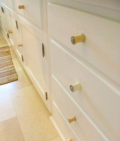 thread spools as drawer pulls.