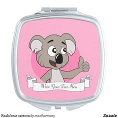 Koala bear cartoon vanity mirror