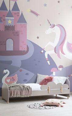 unicorn wall bedroom magical murals decor muralswallpaper mural fairytale wallpapers rooms visit