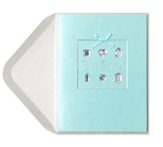 Engagement party invitations from Papyrus, Diamond Cuts Engagement Card. $6.95. #shopcrabtree