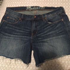 Madewell cutoffs Madewell destructed denim cutoffs. Worn very few times! Madewell Shorts Jean Shorts