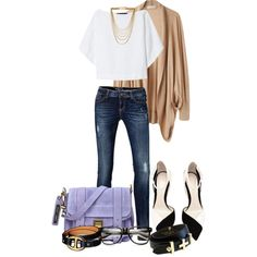 A fashion look from September 2013 featuring Tsumori Chisato cardigans, Zara tops and ESPRIT jeans. Browse and shop related looks.