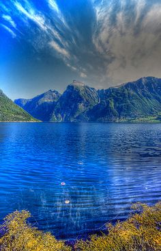 Norway: A Norwegian fjord. Beautiful. I love Norway, my beautiful country. :)