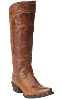 Finally found the boots! LOVE LOVE LOVE, now just have to figure out how to pay for them---Ariat® Sahara™ Women's Maple Sugar Brown Snip Toe Tall Boots
