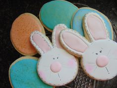 A personal favorite from my Etsy shop https://www.etsy.com/listing/262649910/easter-bunny-and-easter-egg-cookies