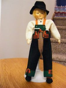 8-Felt-Ronnaug-Petterssen-Norway-Setesdal-Boy-Doll-with-Blonde-Human-Hair-Mint