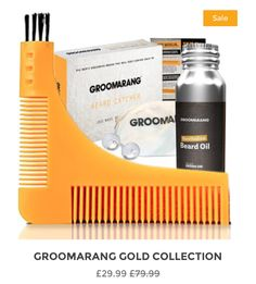 Groomarang Beard Comb , Beard Catcher & Beard Oil. Amazing kit that has all necessary items for the modern man. Tidy , Clean and fast grooming made easy with our beard catcher.