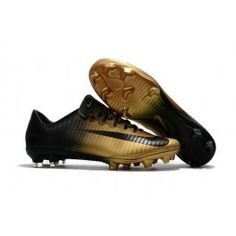 the latest 1527e dbabe Nike Mercurial Vapor XI FG New Soccer Cleat Gold Black Crampons, Nike  Football, Soccer