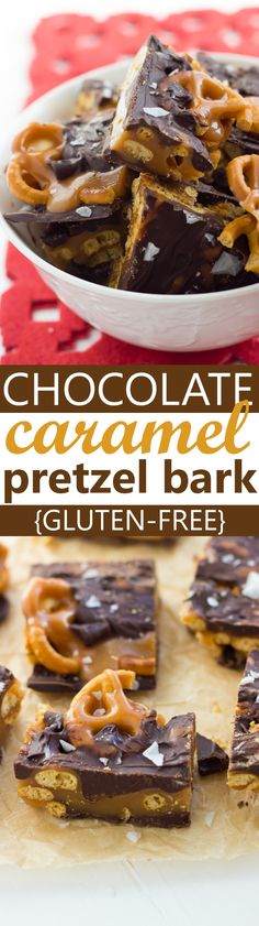 Gluten-Free Dark Chocolate Sea Salt Caramel Pretzel Bark. (Snappers Knock-Off!) These are easy, dangerously delicious and make the perfect holiday food gift.