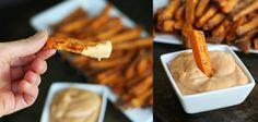 Oven Baked Sweet Potato Fries with Fry Sauce | Creme De La Crumb
