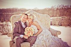 Pretty! Winter Wedding Photo / Winter Wedding Picture. March Wedding Photo #WinterWedding #MarchWedding #Wedding #Snow #Beautiful