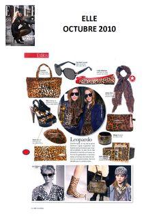 #Colaboración con la #Revista ELLE. Octubre 2010.