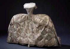 Wedding dress of Edwige Elisabeth Charlotte de Holstein-Gottorp (wife of Prince Karl of Sweden and sister-in-law of King Gustave III of Sweden), 1774.