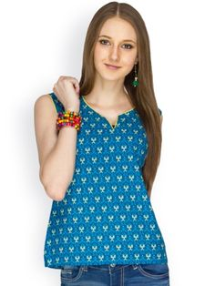 100% COTTON SLEEVELESS BLUE PRINTED BODY WITH YELLOW CORD PIPING - See more at: http://www.namakh.com/FUSION-TOP/BLUE-PRINTED-TOP-id-1172035.html#sthash.xl0gRAC1.dpuf