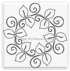 Love Doodle #3 Set with Corner pantograph pattern by
