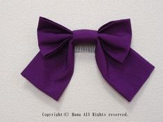 リボン髪飾り大きめ 紫  #髪飾り #リボン #はいからさん #袴 #卒業式 #卒園式 #紫 #シンプル #コーム