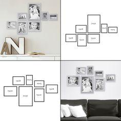 7er Bilderrahmen-Set, moderne Wandgestaltung