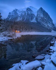 "te5seract: "" 'Hello Winter'' - Lake Louise,Alberta by Gavin Hardcastle """