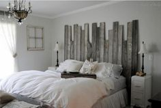 Superbe For Guest Bedroom With Black Furniture.make A Fence Head Board.DIY Master  Bedroom With Rustic Barn Wood Headboard