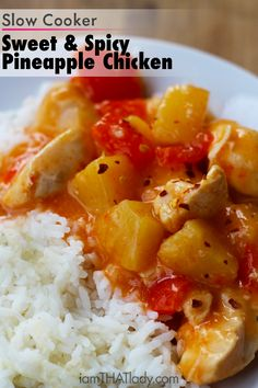 Why order Chinese Take-out when this Slow Cooker Sweet and Spicy Pineapple Chicken is jsut as good! And putting it together is SO easy!