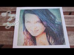 Transferencia de imagenes con cola blanca, sobre una superficie de carton - YouTube
