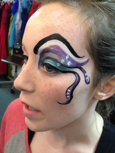 Beginning of Ursula makeup. Little Mermaid Jr. Stand Out Talent - Tower Theatre Roseville, CA