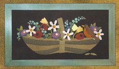 Primitive Folk Art Wool Applique Pattern