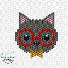 Oups j'avais oublié de mettre le diagramme! Bonne soirée les gens! #jenfiledesperlesetjassume #miyukibeads #miyuki #perleaddict #beadpattern #diagrammeperles #chat #cat #brickstitch #motifpauline_eline