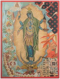 Kaulika -- an unusual representation of Ma Kali as the Virgin of Guadalupe.