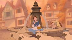 Sometimes when we read, we pose in a certain way so we can look like Belle.