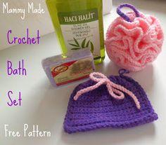 Mammy Made: Crochet Bath Set: Free Pattern