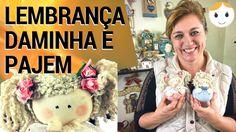 BONECA LEMBRANÇA DAMINHA DE CASAMENTO   DIY FUXICO   DRICA TV   SEGUNDAS...