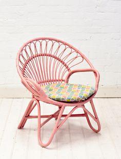 Rattan Round Chair Peach
