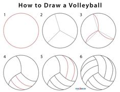 How to Draw a Volleyball (Step by Step Pictures) How To Draw Venom, How To Draw Lightning, Volleyball Drawing, Olaf Drawing, Draw A Snowman, Bridge Drawing, Volleyball Workouts, Drawing Exercises, Drawing Skills
