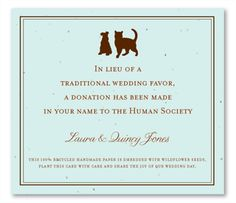 Are you an animal lover? Then this is the perfect wedding favor for you!