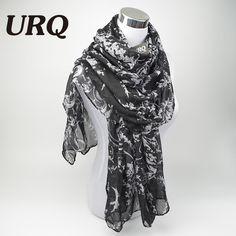 2016 fashion flower viscose scarf women long soft spring shawls best gift for ladies brand scarves echarpe V8A18443