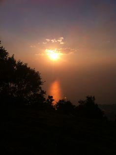 Mystic sunset over beautiful Lake Atitlán, Guatemala.