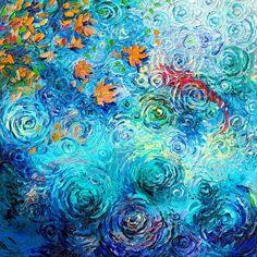 :: Alexandra Proaño 3D - Green Pear Diaries ::: Iris Scott: pintar con los dedos nunca dio tan buenos resultados
