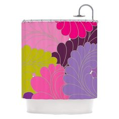 Kess Inhouse Nicole Ketchum Moroccan Leaves Shower Curtain - NK1020ASC01