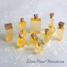 Set of 9 Gorgeous Realistic Miniature Perfume Bottles Dollhouse Miniatures | eBay