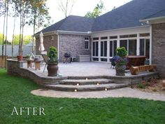 Ideas For Patio Steps Ideas Walks Concrete Patios, Concrete Patio Designs, Brick Pavers, Backyard Patio Designs, Pergola Patio, Backyard Landscaping, Pergola Ideas, Stone Patios, Pavers Patio