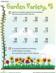 Worksheets: Garden Variety Addition #5