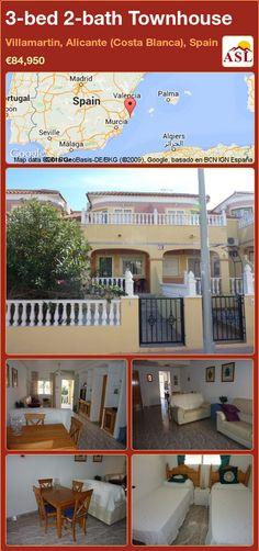 Townhouse for Sale in Villamartin, Alicante (Costa Blanca), Spain with 3 bedrooms, 2 bathrooms - A Spanish Life Murcia, Alicante, Valencia, Sun Awnings, Family Bathroom, Double Bedroom, Ground Floor, Townhouse, Terrace