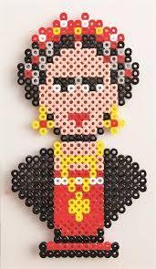 תוצאת תמונה עבור perler beads  frida chalo
