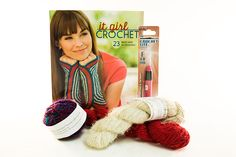 Enter to win the Ultimate Crocheter's Collection Giveaway! One lucky winner will receive one skein of Nepalese Hand-Spun Recycled 100% Pure Silk, one skein White Recycled Silk Yarn, one skein Red Recycled Silk Yarn, one Crochet Lite Crochet Hook, and one copy of it girl Crochet. The deadline to enter is July 17, 2016 at 11:59:59 p.m. Eastern Time.