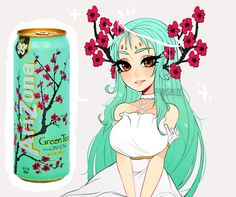 arizona green tea by Rasbii.deviantart.com on @DeviantArt